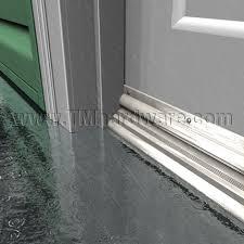 Door Bottom Sweeps For Exterior Doors Eco V Vinyl Or Pemkoprene Door Bottom Sweep With Drip