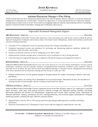 Sample Resume Objectives For Hotel And Restaurant Management by Restaurant Manager Sample Resume Free Resume Example And Writing