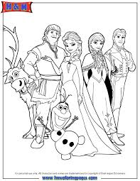 frozen cast colouring pages free coloring pages coloring home