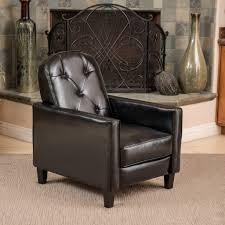 Living Room Recliners Paris Black Bonded Leather Recliner Club Chair Walmart Com