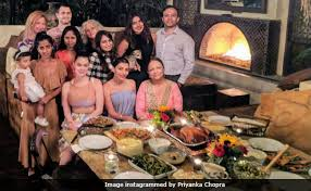 chopra s thanksgiving feast and poolside pics