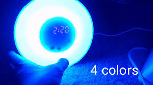 Wake Up Light Alarm Clock Amteker Wake Up Light Alarm Clock With Sunrise Simulation Youtube