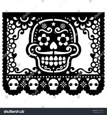 sugar skulls home decor mexican sugar skull vector paper decorations stock vector