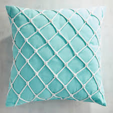Pier One Pillows And Cushions Cabana Fishnet Aqua Pillow Blue Products Pinterest Products