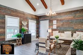 Distressed Wood Wall Panels by Fake Reclaimed Wood Add Character Style With Barn Board