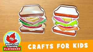 sandwich craft for kids maple leaf learning playhouse youtube