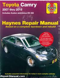h92009 haynes toyota camry avalon lexus es 350 2007 2015 car