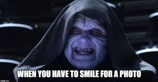 Emperor Palpatine Meme - smile for a photo imgflip