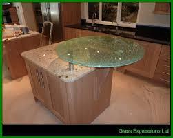 Glass Breakfast Bar Table Glass Work Tops