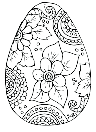 cute easter coloring pictures egg pages advanced bunny page vector