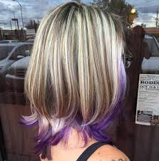 long bob with dipped ends hair 22 sassy purple highlighted hairstyles for short medium long