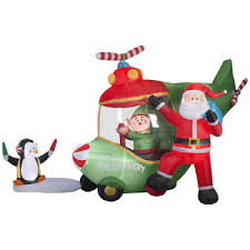 18 5 ft animated airblown santa and helicopter