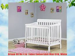Convertible Mini Crib On Me 4 In 1 Aden Convertible Mini Crib White