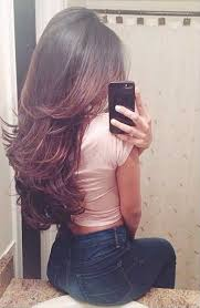 front and back views of hair styles layered long hairstyles back view hairstyle for women man