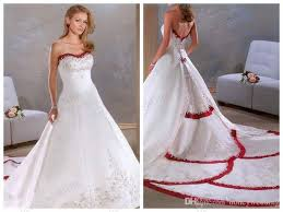 red and white wedding dresses plus size junoir bridesmaid dresses
