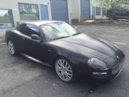 maserati coupe black maserati u2013 satin black color change with gloss black accents car