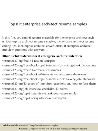 top 8 it enterprise architect resume samples 1 638 jpg cb u003d1437639421