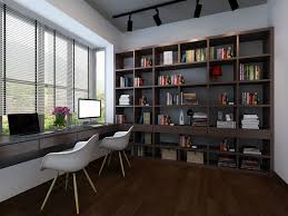 3d study home library cgtrader