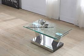 glass end table set china glass coffee table set center table design living room