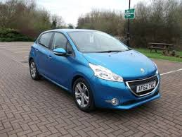 blue peugeot for sale used 2012 62 reg blue peugeot 208 1 2 vti active 5dr for sale on