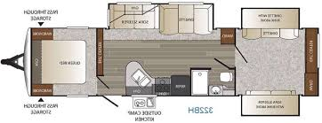 Bunkhouse Trailer Floor Plans Travel Trailers With Bunks And Outdoor Kitchen Beautiful Palomino