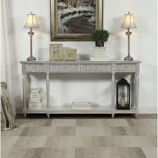 coast to coast console table coast to coast 70777 four drawer console table in margo silver leaf