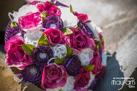 Diy Bridal Bouquet Diy Bridal Bouquet With Ribbon U0026 Coffee Filters May Arts