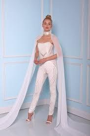 white jumpsuit wedding white bridal jumpsuits 2016 2017 elegance for your wedding