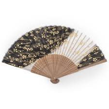 japanese fans black cherry blossom japanese folding fan japanese fans