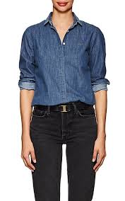 chambray blouse maison labiche deja vu cotton chambray blouse barneys york