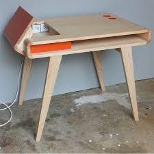 bureau retro bureau retro contemporain en bois kolorea 10998 30865 mobilier