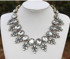pearl crystal statement necklace images Vintage style crystal statement necklace earrings set n228 jpg