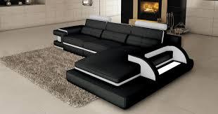 canapes angle cuir deco in 1 canape d angle cuir noir et blanc design avec