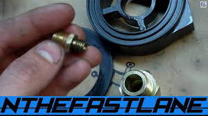 how to install a oil filter sandwich adapter youtube