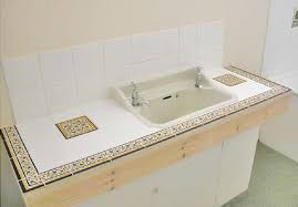 bathroom countertop vanity top painted tile makes a difference