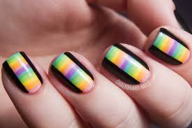 nail art best stripedail art ideas on pinterestcaa basketball