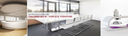 Modern Corian Office Table Design Wanbest Corian Solid Surface Countertop Oem Furniture