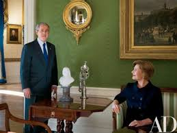 George Bush Cabinet At Home With President George W And Laura Bush In The White House
