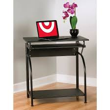 Computer Desk Without Keyboard Tray Stanton Computer Desk With Pullout Keyboard Tray Black Comfort