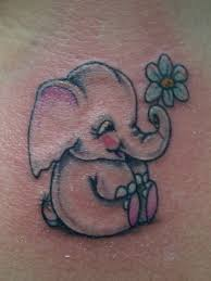 cute little elephant tattoo designs with flower tattoo design ideas