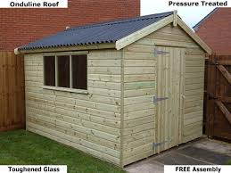 How To Re Roof A Shed With Onduline Corrugated Roofing Sheets by Platinum Junior Apex Wooden Sheds Man Cave Fitted Free