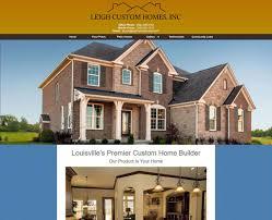 leigh custom homes website design louisville ky
