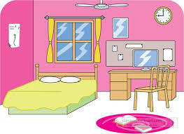 Bedroom Things Furniture Clipart Pink Bedroom Pencil And In Color Furniture