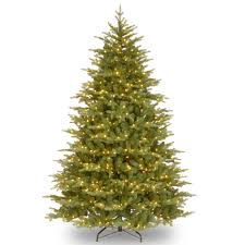 feel real nordic spruce medium hinged christmas tree clear