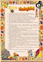 thanksgiving set 3 20 facts on thanksgiving reading comprehension