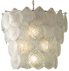 Glass Chain Chandelier Global Views Murano Glass Leaf Chandelier Transitional