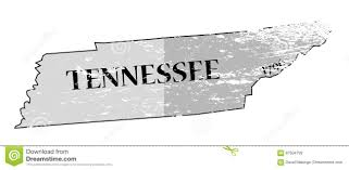 Tennessee State Map by Tennessee State And Date Map Grunged Stock Illustration Image
