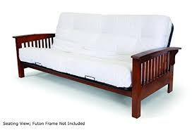 amazon com artiva usa home deluxe 8 inch futon sofa mattress made