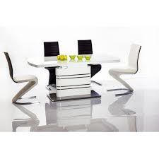 High Gloss Extending Dining Table Appealing White Glass Extending Dining Table Modern White High