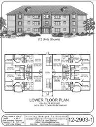 Plan DC  Story  Unit Apartment Building Apartments - Apartment building design plans
